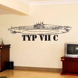 U Boot Typ VIIC Militär Marine Deutschland Wandtattoo 45x145cm #4364w