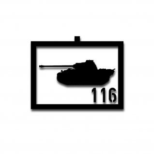 Taktische Zeichen Panther 116 Panzer Aufkleber Sticker 15x10cm#A3712