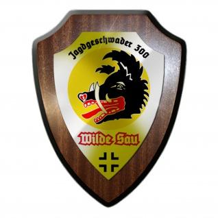 Wappenschild JG300 Jagdgeschwader 300 Wilde Sau Wappen Abzeichen Emblem #15459