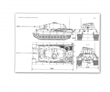 Poster PzKpfw VI II Panzer Sd Kfz 182 Panzerkampfwagen ab 30x21cm #30801