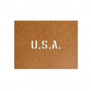 USA Schablone Bundeswehr Ölkarton Lackierschablone 2, 5x8, 5cm #15109