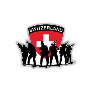 Aufkleber/Sticker Schweizer Armee Militär Wappen Abzeichen Army 10x7cm A1167