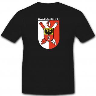 Beobachtungspanzerartilleriebataillon 131 Bundeswehr Wappen T Shirt #3457