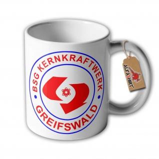 DDR BSG Kernkraftwerk Greifswald Betriebssportgemeinschaft Fußball Tasse #33352 - Vorschau