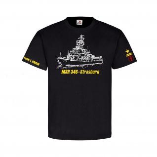 MSR 346 Strasburg 4 Flottille Dienstzeit Marine Funk HMAW NVA DDR T Shirt #31522