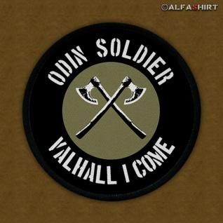 Patch Odin Soldier Wikinger Valhall i come Krieger Soldat Kämpfer Infidel #11023