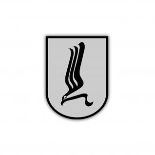 Aufkleber/Sticker Luftbewegliche Brigade 1 Bundeswehr Brigade Heer 7x5cm A1215