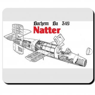 Natter Bachem Ba349 Raketenjäger Luftwaffe Wk Wh Raketenantrieb - Mauspad #9533