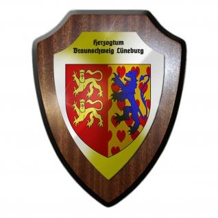 Wappenschild / Wandschild / Herzogentum Braunschweig Lüneburg Wappen - #25459