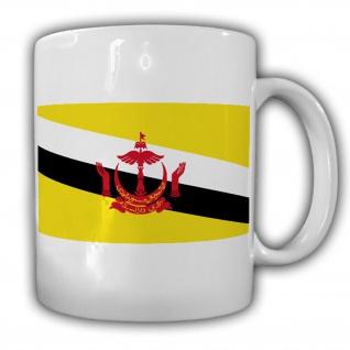 Brunei Flagge Fahne Asien Südchinesisches Meer - Tasse Becher Kaffee #13426