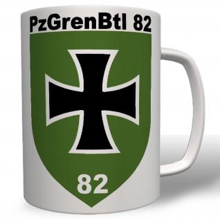 Militär Wappen Pzgrenbtl 82 Bundeswehr Emblem Abzeichen Tasse #4147t