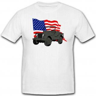U.S. Armee Geländefahrzeug Wk 4x4 Allrad Militär Military America T Shirt #3179