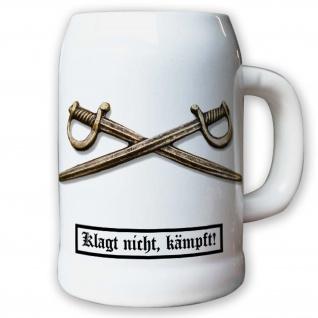 Krug / Bierkrug 0, 5l - Barettabezeichen Heer Schwerter Metall Soldaten #11817