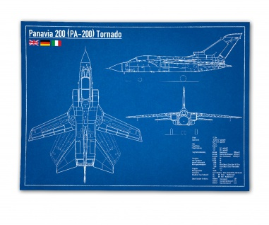 Poster Panavia 200 PA-200 Tornado Düsenjäger Blaupause JaboG ab 30x22cm #31034