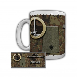 Tasse DEU-NED Korps Leutnant 101 Fernmeldebataillon Garderen Bundeswehr #29454