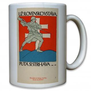 Slovenia Slovenien Soldaten WK 2 WW II Werbung Plakat - Tasse #11579