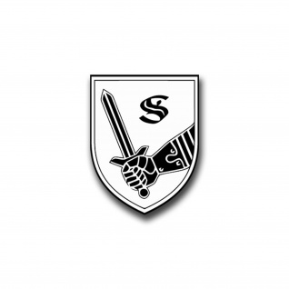 Aufkleber/Sticker Panzertruppenschule Munster Heer Wappen Abzeichen 5x7cm A820