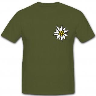 Wappen Abzeichen Gebirgsjäger Einheit Bundeswehr Wh Edelweiß Wk - T Shirt #3628