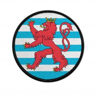Patch Luxemburg Kokarde Klett Unifrom Löwe rund 9cm #37511
