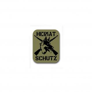 Heimatschutz Aufkleber Homeland Security Deutscher Schäferhund 50x40cm #A4864
