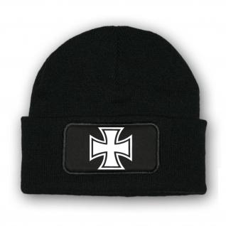 Mütze / Beenie - Kreuz Panzer Luftwaffe Einheit Militär Abzeichen #7018