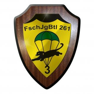 Wappenschild / Wandschild / Wappen - FschJgBtl 261 Bataillon Abzeichen #8826