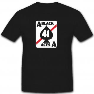 VFA 41 Black Aces Geschwaderabzeichen Ass Wappen Abzeichen Emblem- T Shirt #3720