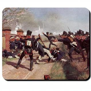 Preußensturm Preußisches Füsilier Bataillon stürmen Schlacht Mauspad #16174