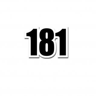 TYP 181 Zahl Nummer Aufkleber passend für VW Kübel Kübelwagen 10x7cm#A3681