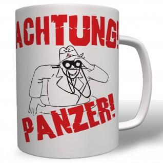 Achtung Panzer Tiger Fibel Panther Deutschland Germany - Tasse #16735