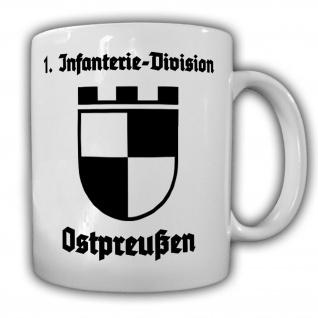 Tasse 1 Infanterie-Division Ostpreußen Wappen Abzeichen InfDiv Königsberg #23891