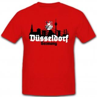 Düsseldorf Germany Skyline Wappen Königsallee Deutschland - T Shirt #12676
