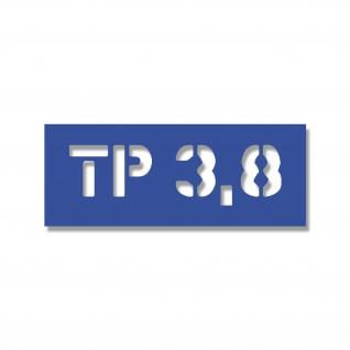 Lackierschablonen Aufkleber TP 3, 8 Reifendruck Kotflügel Army 20x5cm #A4678