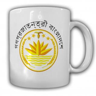 Bangladesch Wappen Emblem Volksrepublik - Tasse Becher Kaffee #13358