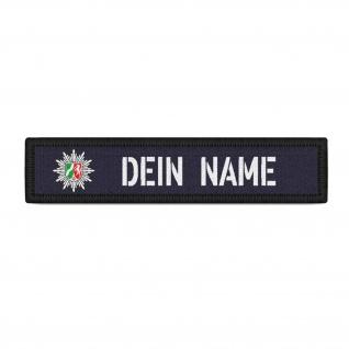 Patch Namens-Schild Polizei NRW Klett Streifen personalisiert mit Namen #35221