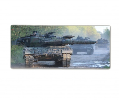 Poster M&N Pictures Kolonne Leopard 2 Zug Munster Kampf ab30x20cm#30239