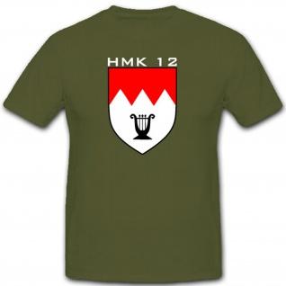 Hmk 12 Heer Musikanten Korps Einheit Abzeichen Wappen Orchester - T Shirt #2891