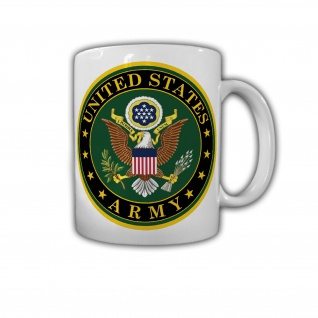 United States Army Us Heer Wappen Abzeichen USA Amerika Panzer - Tasse #26798