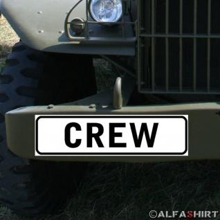 Magnetschild CREW Mannschaft Verein Security Sicherheitsdienst Fahrzeug #A332