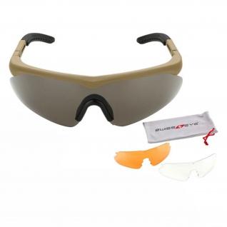 Tactical Schutzbrille Raptor SAND Swiss Eye Sportbrille Schießsport #17825
