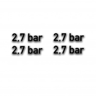 2, 7 bar Reifendruck Aufkleber Bundeswehr Reifen-Druck Kotflügel 7x2cm#A5125