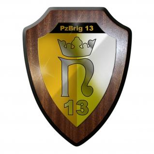 Wappenschild / Wandschild - PzBrig 13 Panzer Brigade Bundeswehr Bund Bw #12895