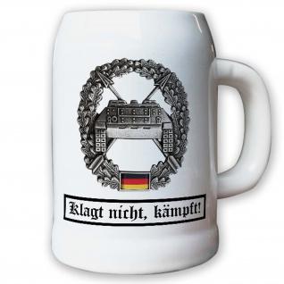 Krug / Bierkrug 0, 5l - Barettabzeichen Panzerjäger Klagt nicht kämpft #10924