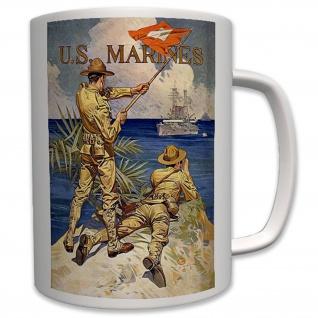 Militär Usa Marines Rekrutierungs Plakat Poster US Tropen - Tasse #6349