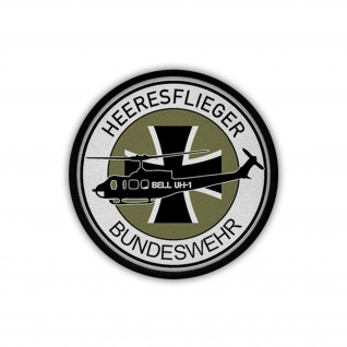 Heeresflieger Bundeswehr Bell UH-1 Bückeburg Wappen Patch Aufnäher #18092