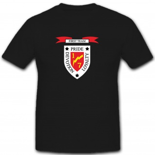 1st Battalion 7th Marines 'Pride, Devotion, Loyalty' Logo Wappen T Shirt #12110