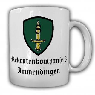 Tasse Rekrutenkompanie 8 Immendingen Bundeswehr Grundausbildung Abzeichen #23012