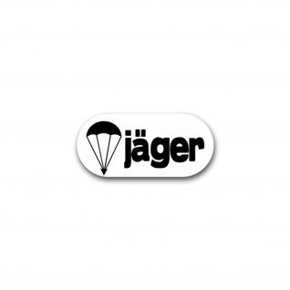 Aufkleber/Sticker Fallschirm Jäger Fallschirmjäger Falli Bundeswehr 15x7cm A1783