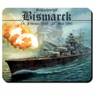 Schlachtschiff Bismarck Mauspad Wappen Schiff Marine - Mauspad PC #16674