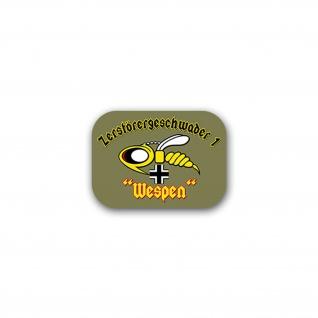 Aufkleber/Sticker Zerstörergeschwader 1 ZG Luftwaffe Wespe Militär 10x7cm A2569